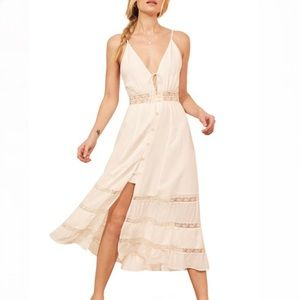 Reformation Shelley Dress In Ivory